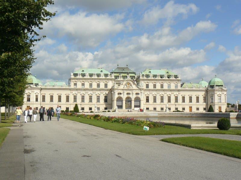 Belvedere Wien arkivbild
