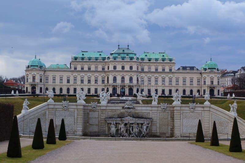 Belvedere in Wien lizenzfreie stockbilder