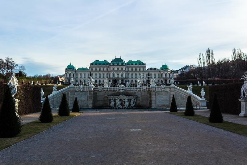 Belvedere in zonlicht stock foto