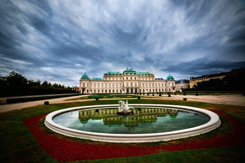 Belvedereslott - Wien arkivfoton