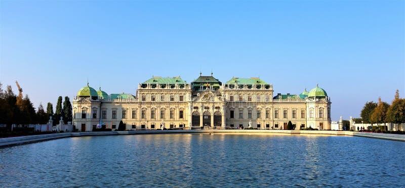 Belvedereslott, Wien royaltyfria foton