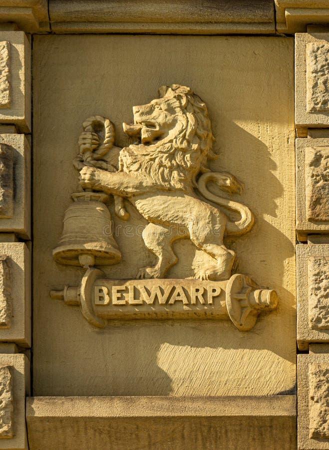 Belwarp talló en piedra fotos de archivo