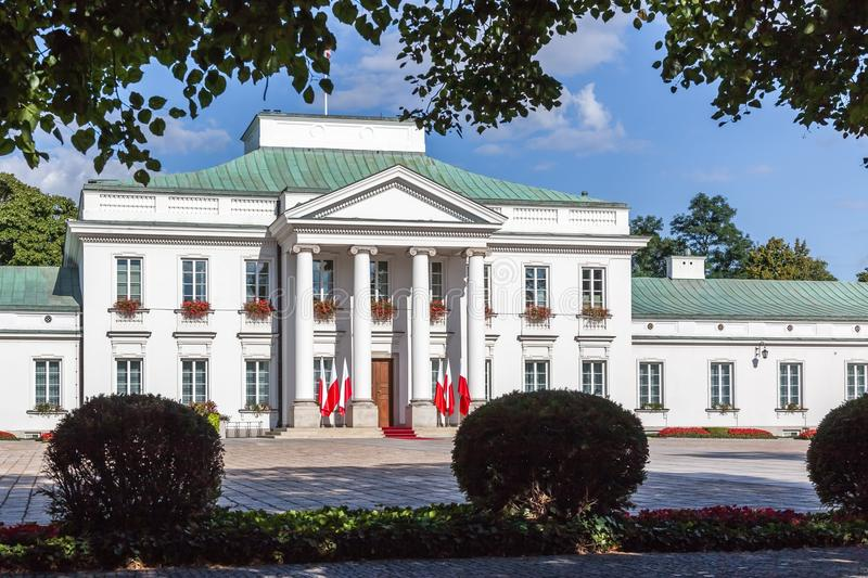 Belweder Palace in Warsaw, Poland royalty free stock photo