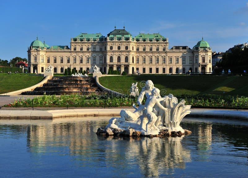 Belwederu muzealny kompleks w Wiedeń obraz royalty free