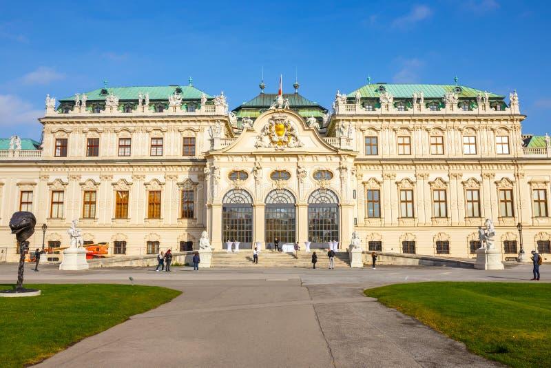 Belwederu ogród w Wiedeń i pałac Główny pałac - Górny belweder Austria obrazy stock