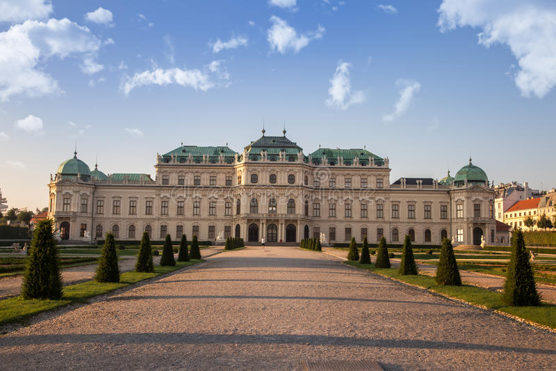Belwederu pałac, Wiedeń fotografia stock
