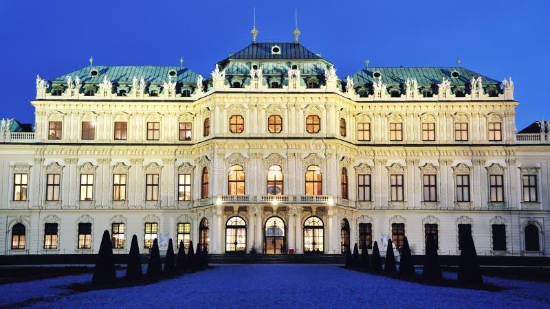 Belwederu pałac, Wiedeń, Austria obraz stock