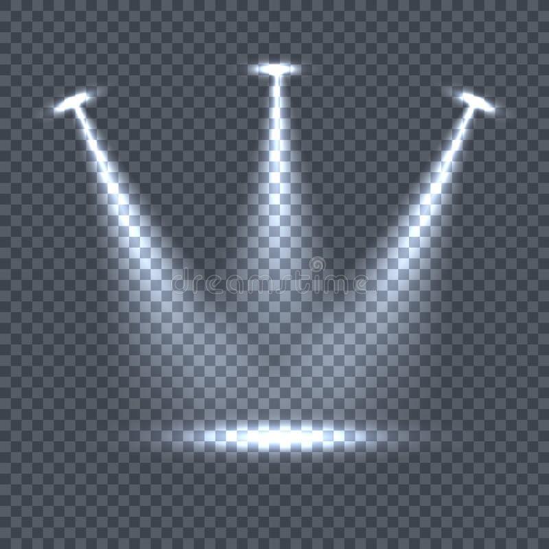 Belysning med ljusa effekter på stordian royaltyfri illustrationer