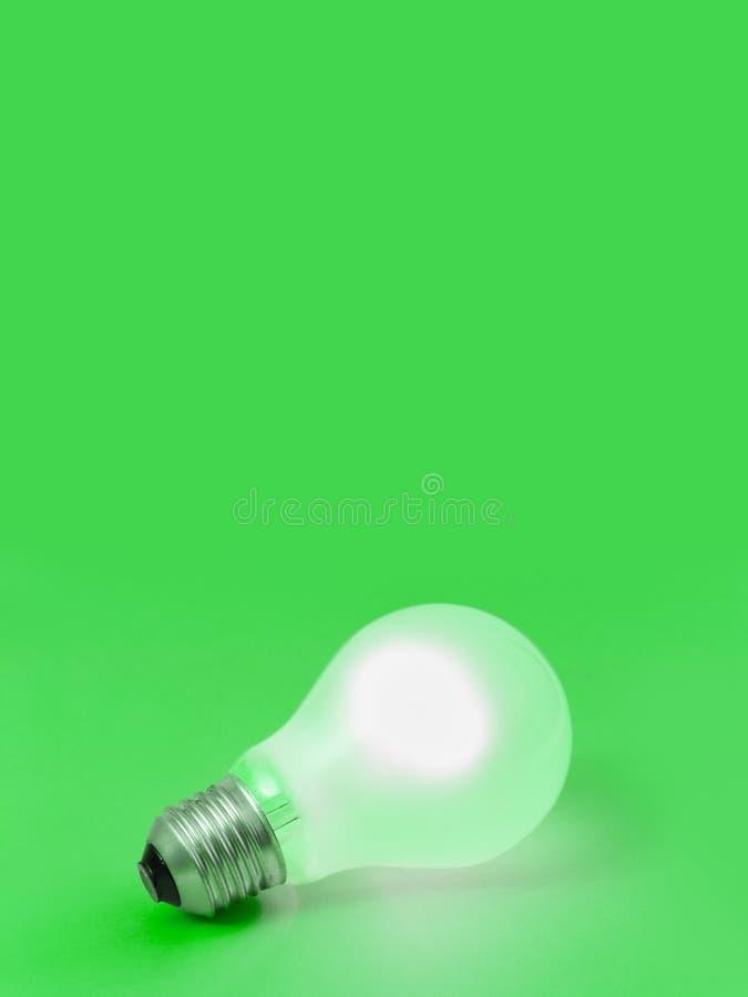 Belysninglampa på grön bakgrund royaltyfria foton