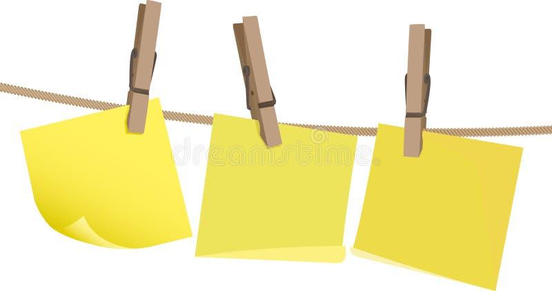 bemärk yellow för pinnepostitrad vektor illustrationer