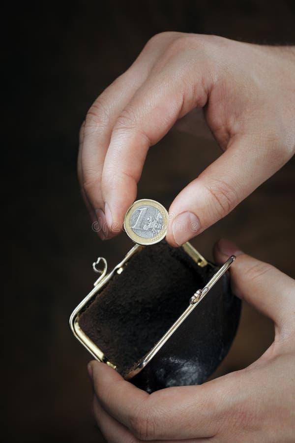 Den sist euroen royaltyfri bild