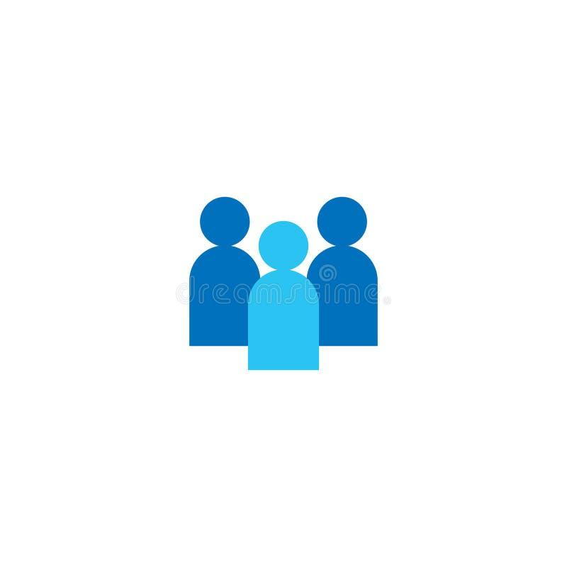 Bemanna symbolen Företags lag för affär som tillsammans arbetar Socialt symbol för nätverksgrupplogo Folkmassatecken Ledarskap- e royaltyfri illustrationer