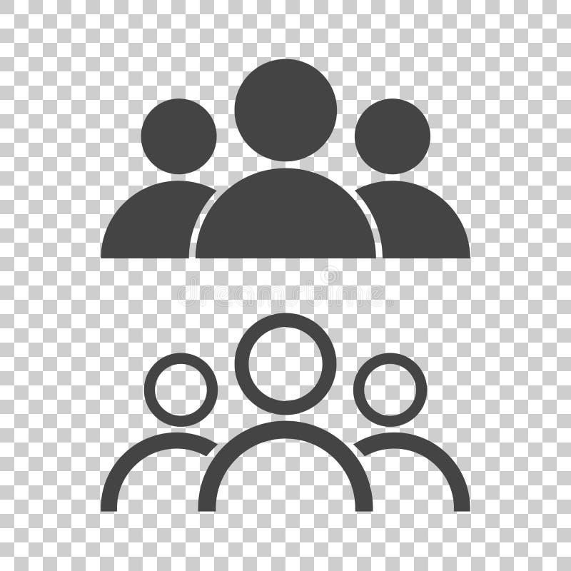 Bemanna symbolen Plan vektorillustration royaltyfri illustrationer