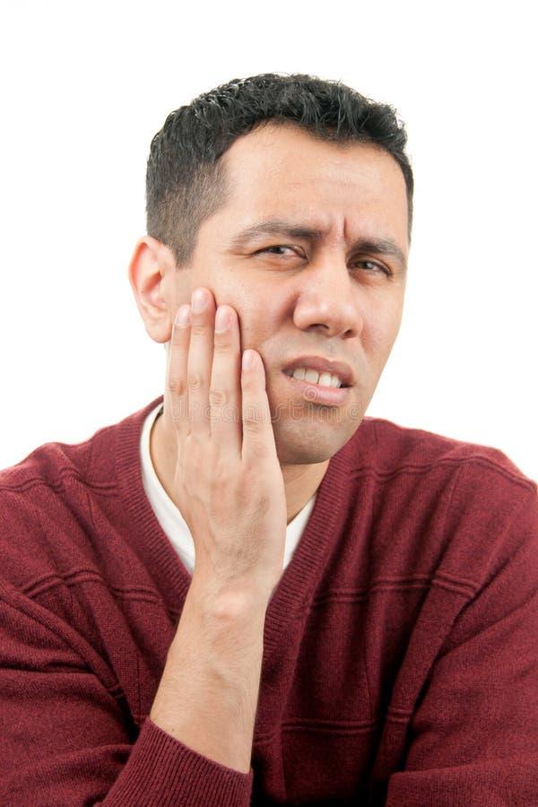 Bemannen Sie in den Zahnschmerz stockfotografie