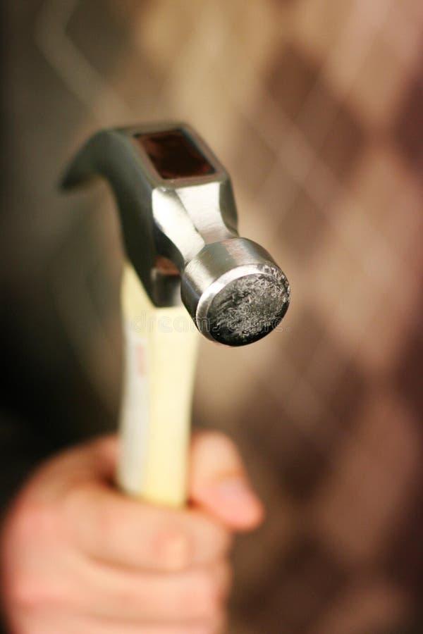 Bemannen Sie Holdinghammer stockfotos