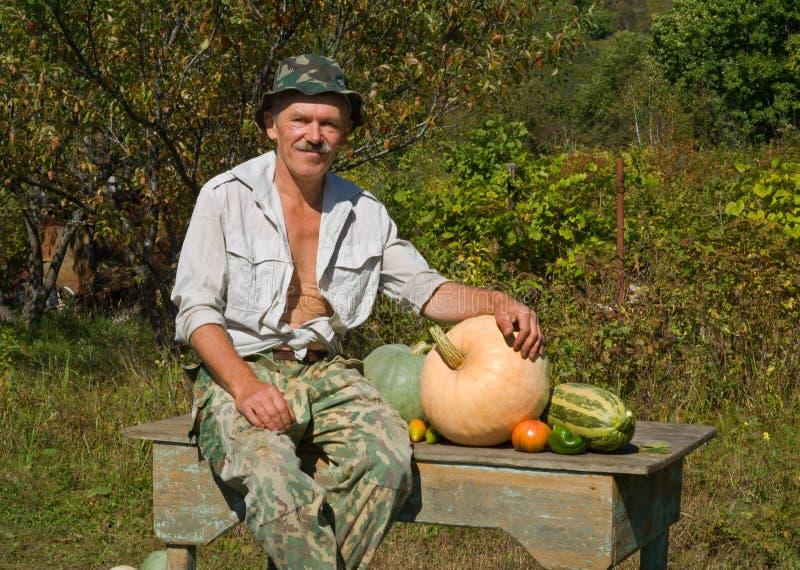 Bemannen Sie mit Gemüse 2 stockfotos