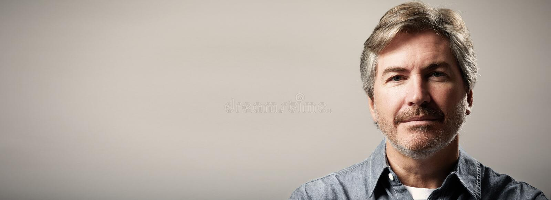 Bemannen Sie Portrait lizenzfreie stockfotos