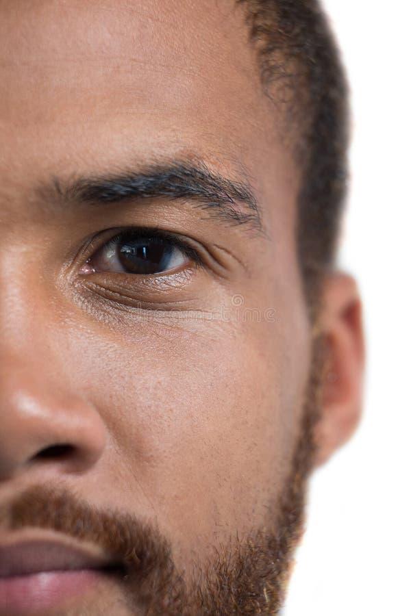 Bemannt Augen mit Augenbrauen stockbilder
