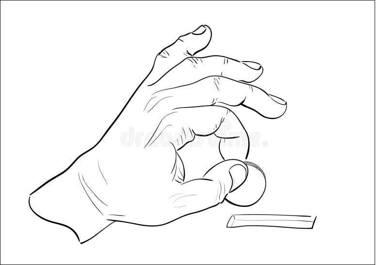 Bemannt Die Hand, Die Münze In Moneybox Setzt. Stockbilder