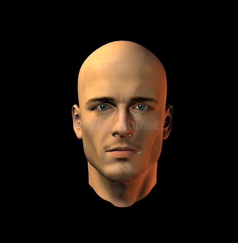 Bemannt Gesicht 10 Stockbild