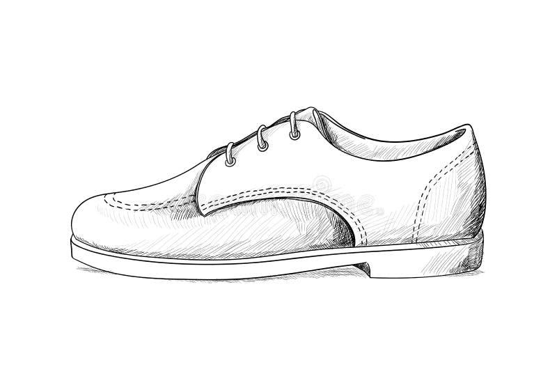 Bemannt Schuhe lizenzfreie abbildung
