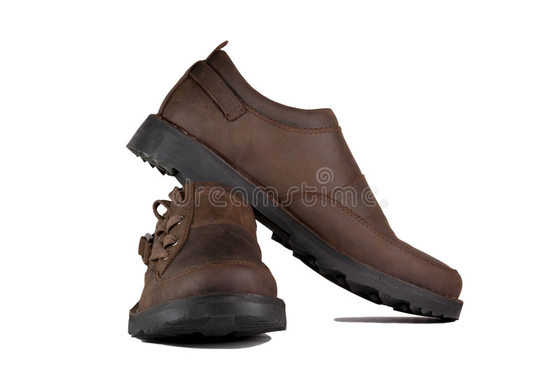 Bemannt Schuhe stockbild