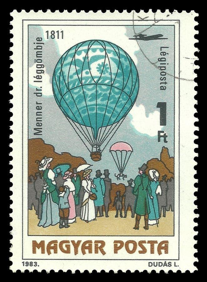 Bemannter Flug, Dr. Menner-` s Luftballon lizenzfreie stockfotografie
