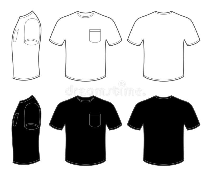 Bemant T-shirt met Zak stock illustratie