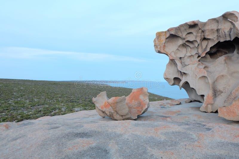 Bemerkenswerte Felsen in der Känguruinsel lizenzfreies stockbild