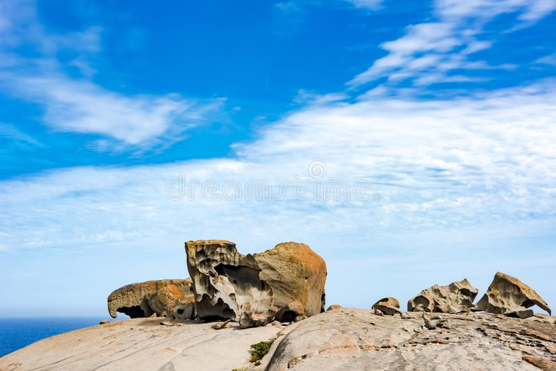 Bemerkenswerte Felsen, Känguru-Insel, Australien stockfotografie
