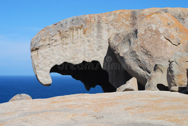 Bemerkenswerte Felsen, Känguru-Insel, Australien stockfotos
