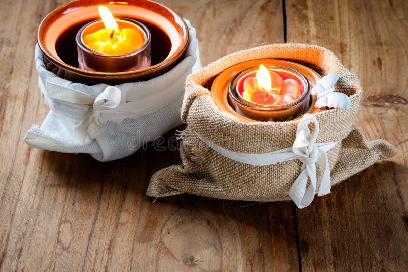 bemerkte kaarsen stock fotografie