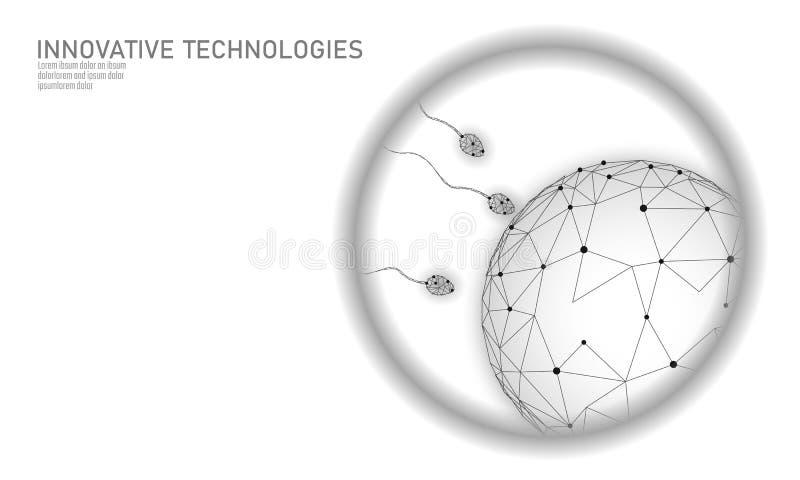 Bemestings 3D lage poly in vitro De reproductieve moderne van de de gezondheidszorgzwangerschap van de technologiegeneeskunde gez stock illustratie