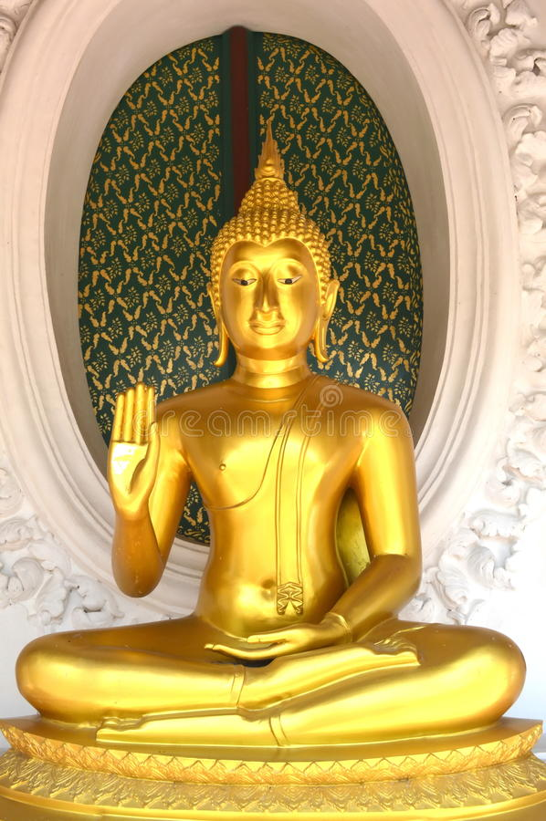 Bemiddel aan mara Boedha, Thailand royalty-vrije stock foto