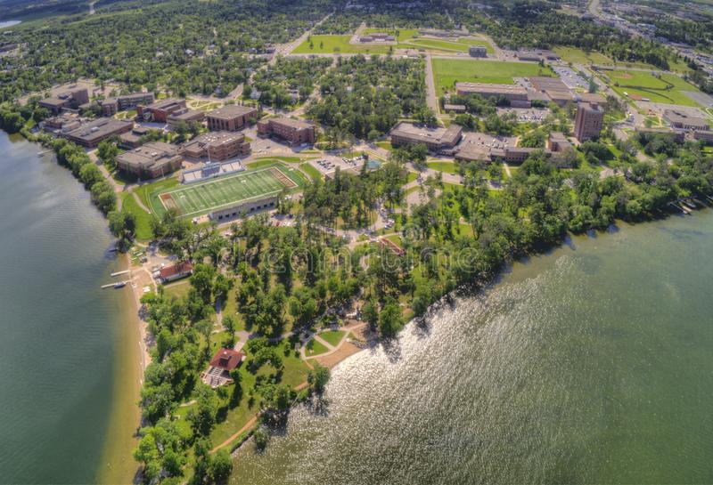 Bemidji State University is a College in a Town in Central Minnesota on the Shores of a Lake with the same Name.  royalty free stock photo