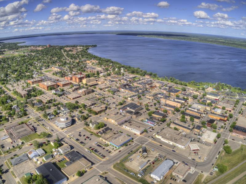 Bemidji is a Town in Central Minnesota on the Shores of a Lake with the same Name.  royalty free stock photography