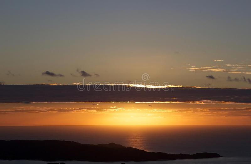 Bemoeiziek is de zonsondergang, Madagascar royalty-vrije stock afbeelding