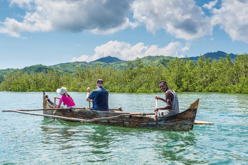 Bemoeiziek is het eiland, het noorden van Madagascar stock foto