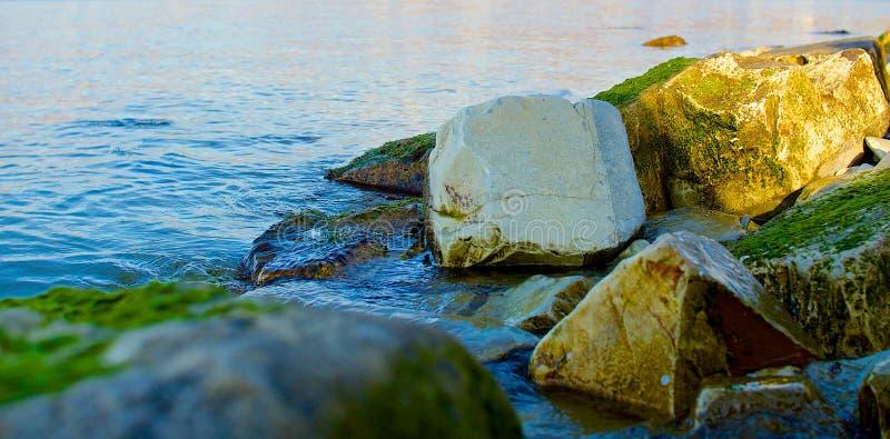 Bemoste stenen royalty-vrije stock foto