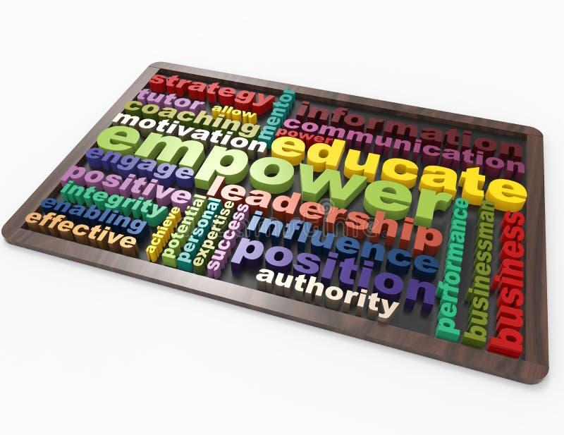 Bemyndiga ledarskap utbildar stock illustrationer