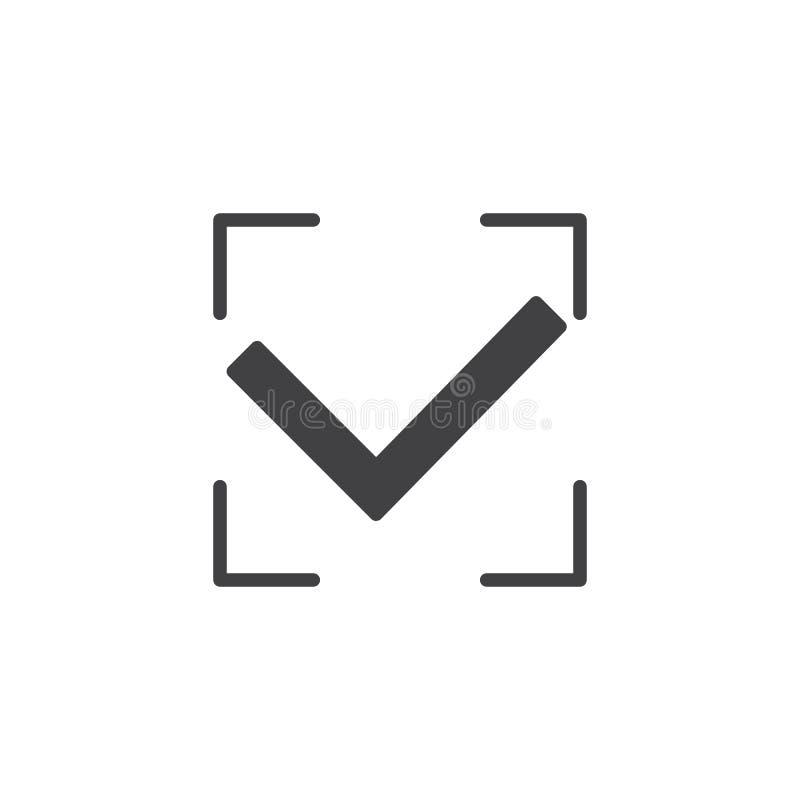 Bemyndigande accepterad vektorsymbol royaltyfri illustrationer