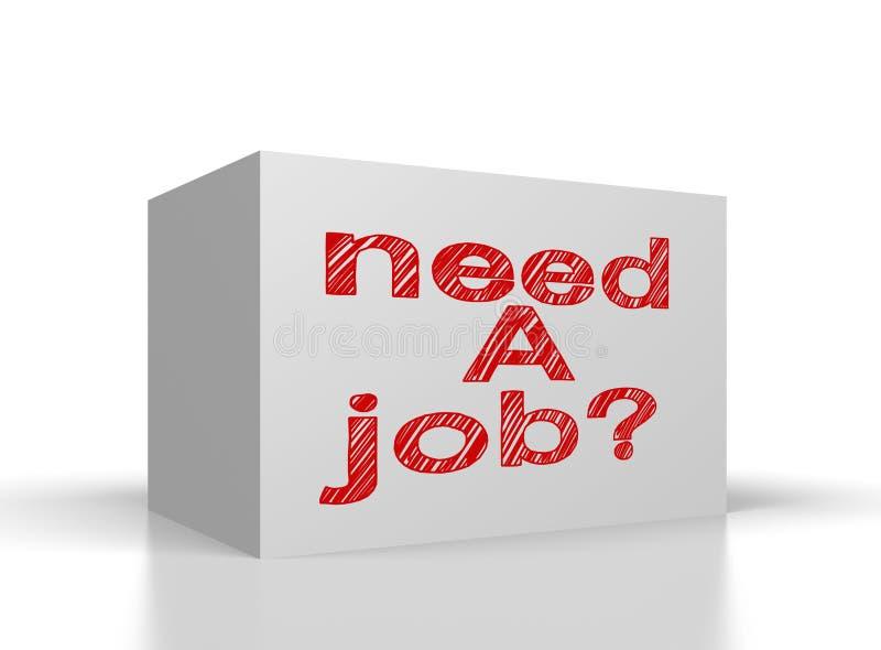 Benötigen Sie einen Job vektor abbildung