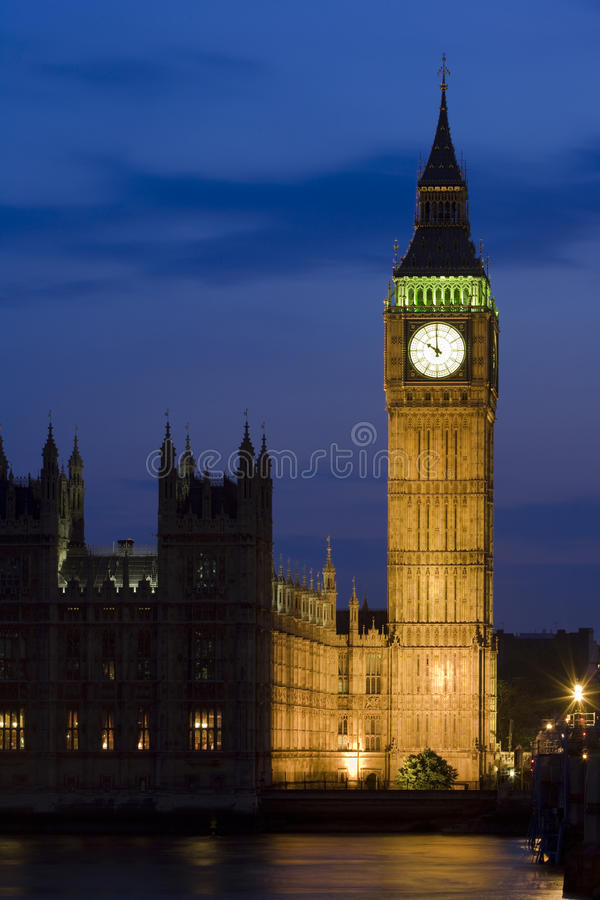 ben μεγάλος dusk πύργος UK Γουέσ&ta στοκ φωτογραφίες με δικαίωμα ελεύθερης χρήσης