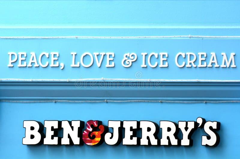 Ben & πίνακας διαφημίσεων του Jerry στοκ φωτογραφίες με δικαίωμα ελεύθερης χρήσης