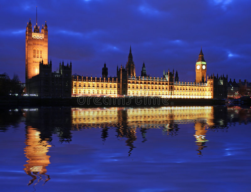 ben το μεγάλο Κοινοβούλι&omicro στοκ εικόνα