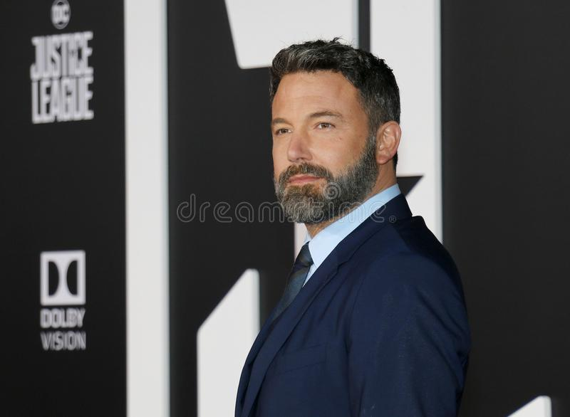 Ben Affleck. At the World premiere of `Justice League` held at the Dolby Theatre in Hollywood, USA on November 13, 2017 stock image