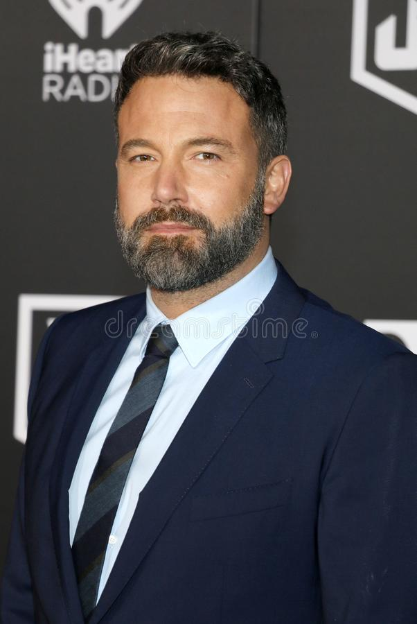 Ben Affleck. At the World premiere of `Justice League` held at the Dolby Theatre in Hollywood, USA on November 13, 2017 royalty free stock image