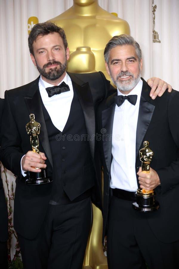 Ben Affleck, George Clooney stock fotografie