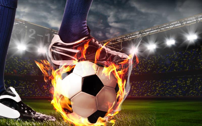 Ben av fotboll eller fotbollsspelaren fotografering för bildbyråer