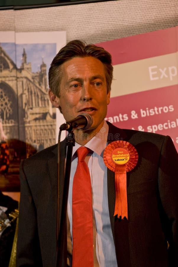 Ben Bradshaw do Partido Trabalhista de Exeter re-elected fotos de stock
